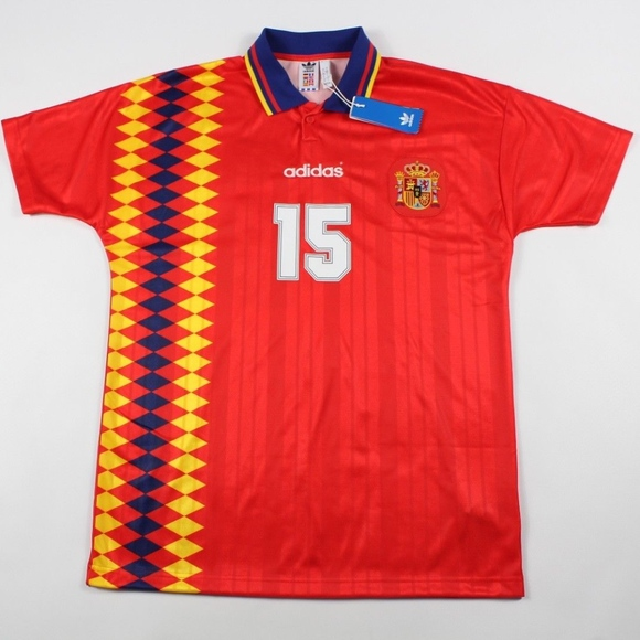 4760088a9af adidas Shirts | New Spain World Cup Retro Soccer Jersey Red | Poshmark